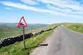Empty road in Yorkshire dales Stock Photos