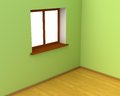 Empty Room with Big Window Stock Photography