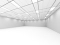 Empty Room Classic Interior With Lights. Architecture Background Royalty Free Stock Photo