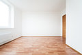 Empty room with door white new Stock Image