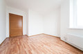 Empty room with door and window Stock Images