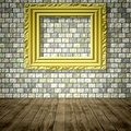 Empty room generated texture Royalty Free Stock Photo