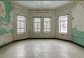 Empty room inside Trans-Allegheny Lunatic Asylum Royalty Free Stock Photo
