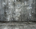 Empty room with old mottled concrete wall and floor for background texture Royalty Free Stock Images