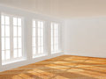 Empty room with parquet floor new Royalty Free Stock Photography