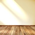 Empty room with wall and wooden floor eps this is editable vector illustration Royalty Free Stock Images