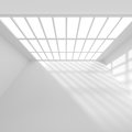 Empty Room with Window. Abstract Architecture Wallpaper Royalty Free Stock Photo