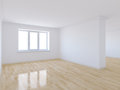 Empty room with wooden floor d render of Royalty Free Stock Image