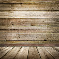 Empty room with wooden floor and wall image Royalty Free Stock Image
