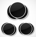 Empty round photo frames on white background vector illustration Royalty Free Stock Photography
