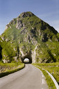 Empty route and small tunnel Royalty Free Stock Images