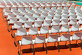 Empty rows of seats backs to spectator Royalty Free Stock Photo