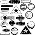 Empty rubber stamps Royalty Free Stock Photo