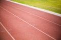Empty running track Royalty Free Stock Photo