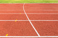 Empty running track Royalty Free Stock Photo