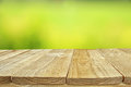 Empty rustic table in front of abstract background Royalty Free Stock Photo