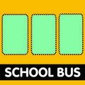 Empty school bus Stock Photos