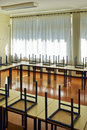 Empty schoolroom Royalty Free Stock Photo