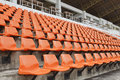Empty seat in stadium Royalty Free Stock Photo