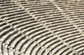 Empty seats at an ancient greek theatre years old Royalty Free Stock Image