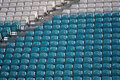 Empty seats football stadium Stock Images