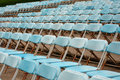 Empty seats for open air event Royalty Free Stock Photos