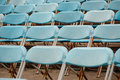 Empty seats for open air event Royalty Free Stock Image