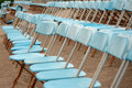 Empty seats for open air event Stock Photography