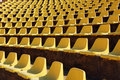 Empty seats in a open-air theatre Stock Photos
