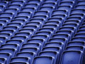 Empty seats in a stadium Royalty Free Stock Photos