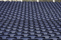 Empty seats in a stadium Stock Photo