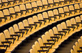 Empty seminar seat yellow Royalty Free Stock Photography
