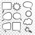 Empty set speech bubble comic text pop art style