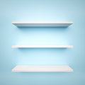 Empty shelfs with copy space d render Royalty Free Stock Photography