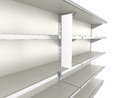 Empty shelves with shelf stopper market render Royalty Free Stock Images
