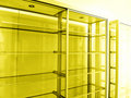 Empty shelving units Stock Photos
