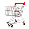 Empty shopping cart Stock Image