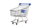 Empty shopping cart for sale isolated on a white background Stock Photography