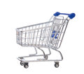 Empty shopping cart for sale on a white background Royalty Free Stock Images