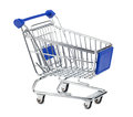 Empty shopping cart on white background Stock Photos