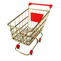 Empty Shoppingcart Stock Images