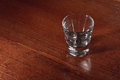 Empty shot glass Royalty Free Stock Photo