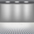 Empty showcase room lights Stock Photography
