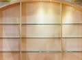 Empty showcase with spot light in the modern shop Royalty Free Stock Image