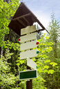 Empty sign on a trail Royalty Free Stock Photo