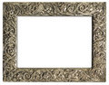 Empty silver frame Royalty Free Stock Photos