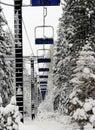 Empty Ski Lift Royalty Free Stock Photo