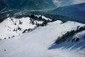 Empty ski slope Royalty Free Stock Photo