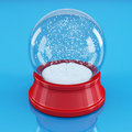 Empty snowglobe Stock Images