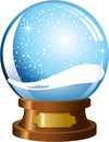 Empty snowglobe illustration featuring with snowfall isolated on white background eps file is available Royalty Free Stock Images